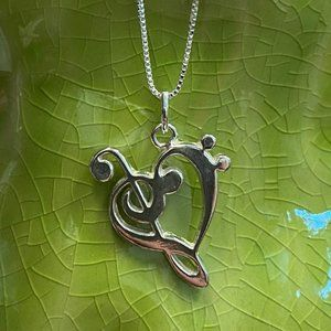 The Heart Of Music Necklace
